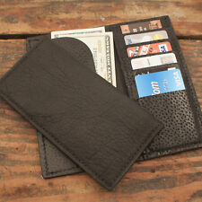 Black Bison Rodeo Checkbook Wallet Amish Made Genuine Buffalo Tall Wallet
