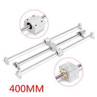 400mm T8 Dual Lead Screw Rod Linear Rail Shaft CNC Optical Axis Bearing Guide