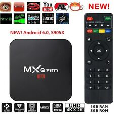 MXQ Pro 4K HDMI S905X Smart OTT TV Box 64Bit 2.0GHz Quad Core Android 6.0 1G+8G