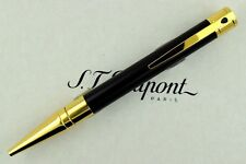 NEW ST Dupont D Initial Yellow Gold Finish Black Ballpoint Pen ST265202
