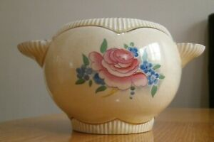 CLARICE CLIFF NEWPORT BAROQUE SUGAR BOWL RGISTERED NUMBER 810076