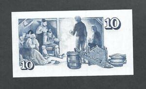 Banknote Iceland 10 Kronur 29 mars 1961 Topical Domestic scene Unc.