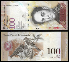 New ListingWorld Paper Money - Venezuela 100 Bolivares 2013 Series Bt8 @ Crisp Unc