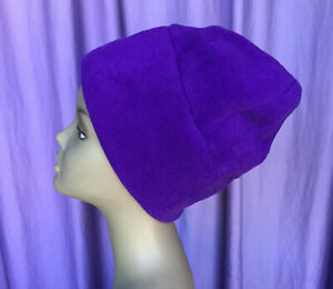 CLIFFHANGER Clothing Purple Fleece Cold Weather Hat One Size