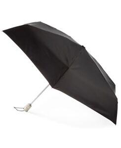 $75 Unisex Totes Black Sun Guard Signature Open/Close Compact Umbrella Neverwet