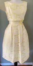 New listing Lovely 1950s Vintage Yellow Party Dress With Bolero Jacket, Current Day Sz 0.