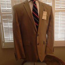 Murano Baird Mcnutt Tan Linen Suit NWT Sz 44R