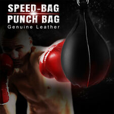 Heavy Duty Leather Speed Ball Training Punching Speed Bag Boxing MMA With Hook