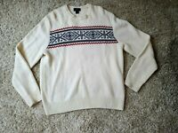 Brooks Brothers 346 Men's Pullover Sweater Size XL Beige Lambs Wool Blend