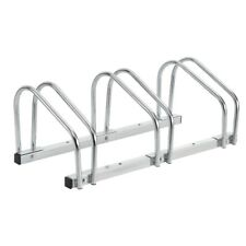 Bicycle Kickstand 3 Bicycles Stand Multiple Racks Galvanized Ground/Wall Mount
