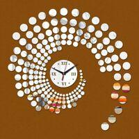Quartz Acrylic Mirror Wall Clock Stickers Diy Home Watch Decoration Modern Decor