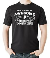Firefighter T-Shirt Funny Gift For Firefighter Awesome Firefighter Tee Shirt