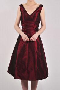 Neu schönes Abendkleid weinrot sehr elegant Größe.36 reduziert
