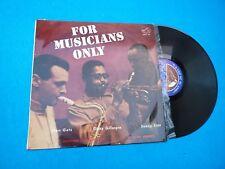 Stan Getz/Dizzy Gillespie/Sonny Stitt–For Musicians Only (EX/EX) Spain 1963 Lp
