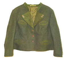 LodenFrey Wool Blazer Petite Large Green Womens Vintage Original Buttons Jacket