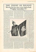 1916 WWI PRINT ~ PLIGHT OF POLAND POLISH WRITER WACLAU CZERNIEWSKI