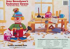 Tradesmen Clowns Knitting Book Jean Greenhowe Patterns The Red Nose Gang