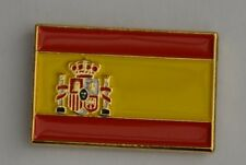 Spain Spanish Flag Quality Gold Plated Enamel Pin Badge