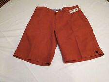 Quiksilver Transcendent 19 rust red shorts walking casual 30 Mens NEW AQYWS00052