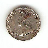 Offer>Straits Settlements  10cents  coin  1919   very nice!