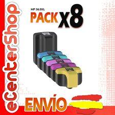 8 Cartuchos de Tinta NON-OEM HP 363XL - Photosmart C5100 Series