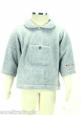 JACADI Boy's Agrafe Gray Pocket Polyester Sweater W/ Collar Sz 6 Months NWT $37