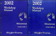 2002 Ford Windstar Van Repair Shop Manual 2 Book Set Original Service Workshop