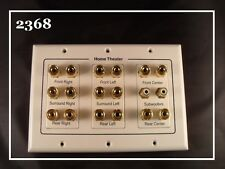 NEW 3-Gang 7.1 Surround Sound Distribution Wall Plate