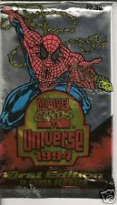 1994 Marvel Universe Jumbo 5 packs V Hologram + SILVER  POWER BLAST  Chase Card