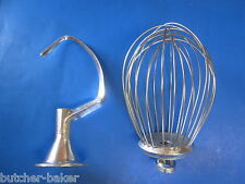 2 Pc Set 10 Quart Bakery Mixer Dough Hook Amp Wire Whip For Hobart C100 C100t