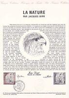 Document philatélique 01-78 1er jour 1978 La nature par Jacques Birr