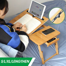 US Portable Folding Desk Bamboo Laptop Computer Bed Table Stand Tray Adjustable