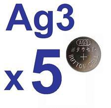 5 PILAS AG3 SR736W LR41 SR41SW 392A LR736 SR736SW★★ENVIO DESDE ESPAÑA★★