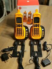 2-Motorola XT801 DECT 6.0 Waterproof Cordless Phone with Connect Cell - Orange