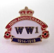 POPPY BADGE - WW1 Centenary Anniversary / First World War Badges