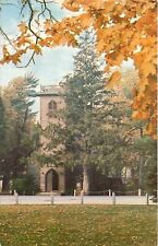 Nashua Iowa~Little Brown Church in the Vale~Autumn Leaves~1960s Postcard