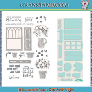WELCOMING WINDOW Stamp Set and cutting Dies Scrapbooking (include:STAMP and DIE)