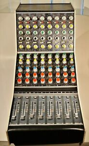Calrec Vintage 8 Channel J Series Complete Console Bucket 1970s PQ15S Modules