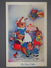 R&L Postcard: Willy Schermele, Party Cake, Children's, Squrriel/Rabbit/Animals