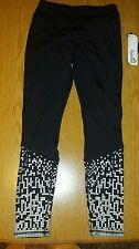 NWT Women's KYODAN Black & Silver SLIMMING Workout Athletic Yoga Pants - S