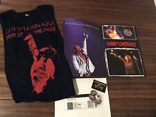 WHITESNAKE,  Signed By 5 Tour Book, Large T.Shirt , Pins , Copy Of The Ticket