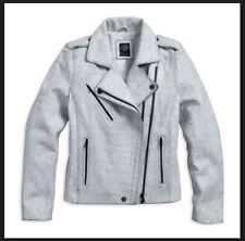 HarleyDavidson Womens Slim Fit Lambskin Leather Motorcycle Jacket M Medium White