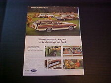 1971 Ford LTD Country/71 Torino Squire Station Wagon-full-color LARGE vintage ad
