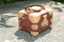 Chinese Zisha Pottery Decorated Square Teapot - Marks