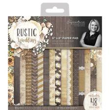 "Rustic Wedding Single-sided Cardstock 6""x6"" 180gsm 48/pkg-16 Designs/3 Each"
