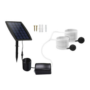 Solar Powered Garden Pond Water Pump Oxygenator Oxygen Aerator for Fishing