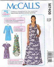 Easy Wrap Dress Belt Learn to Sew For Fun McCalls Sewing Pattern Sz 6 8 10 12 14