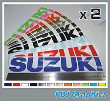 "2 x SUZUKI Vinyl Decals / Stickers Large 300mm (12"") ANY COLOUR  Bellypan / Tan"