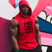 No Pain No Gain Brand Gyms Clothing Mens Bodybuilding Workout Sportswear