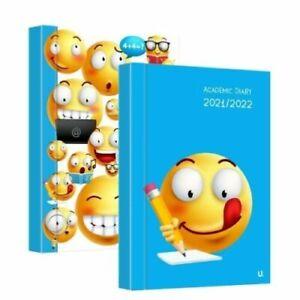 2021-2022 A5 Week to View Emoji Academic Diary  Appointment School Year Hardback